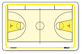 International Basketball - Pocket size board