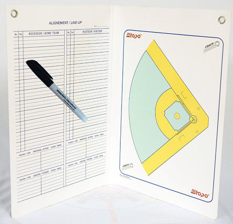 Baseball - Econo two-way folder board