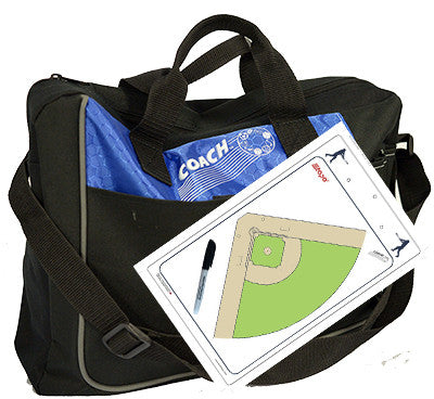 Baseball - Coach bag and deluxe clipboard kit
