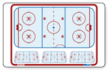 "Hockey - Flex board - 32"" x 44"" - 81 cm x 110 cm"