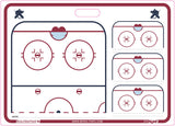 "Hockey - Goalie coach rigid board - 20"" x 28"" - 51 cm x 71 cm"
