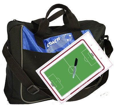 Soccer - Coach bag and deluxe clipboard kit