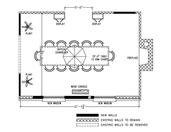 Furnished Room Plan