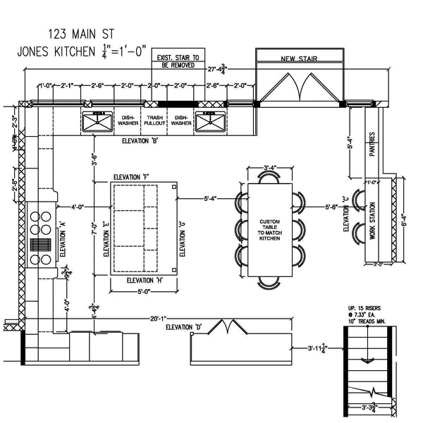 Kitchen Floor Plans And Elevations: AmericanDrafting