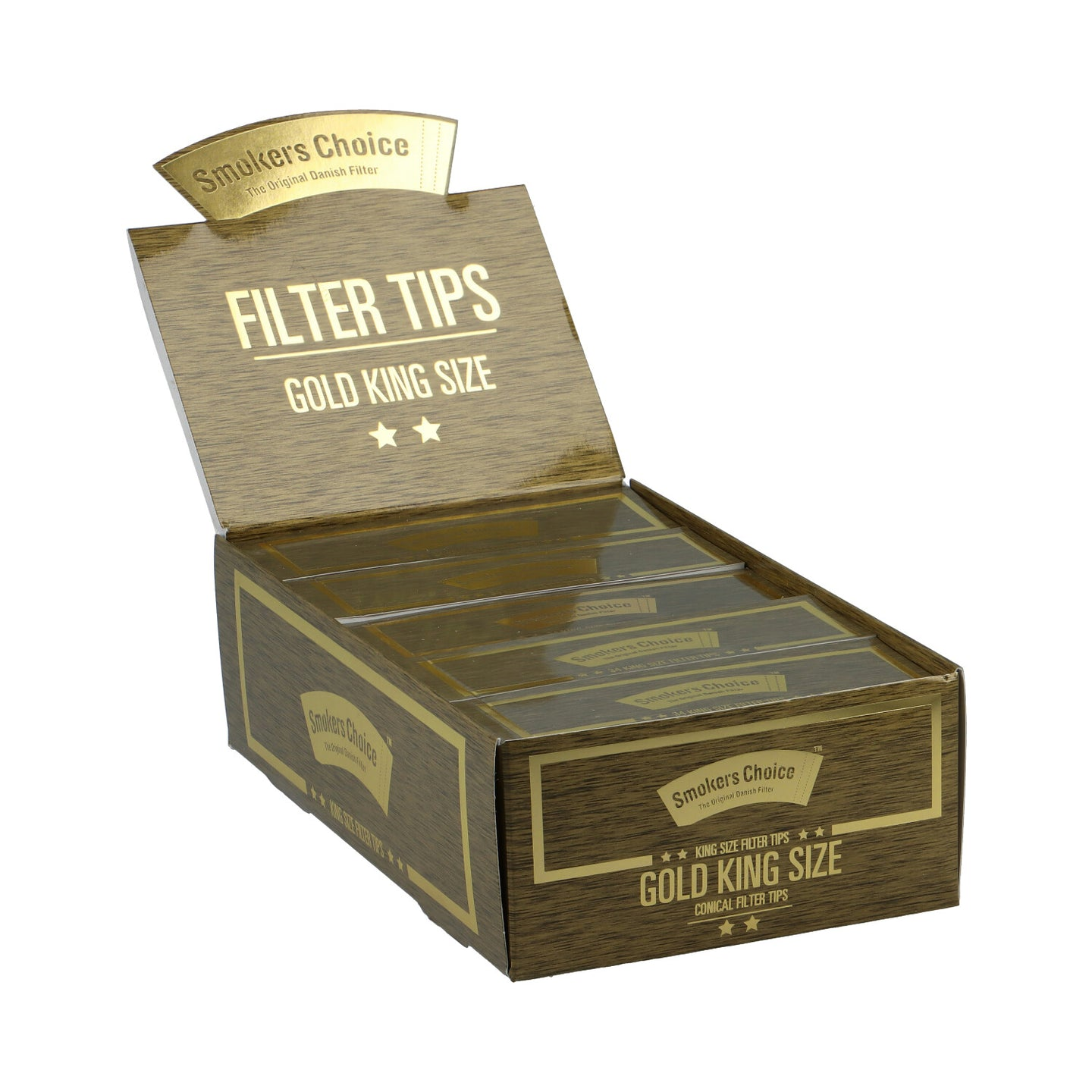 King Size Gold Filter Tips Box