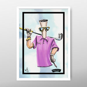 "GolfGuy Poster By ""R"""