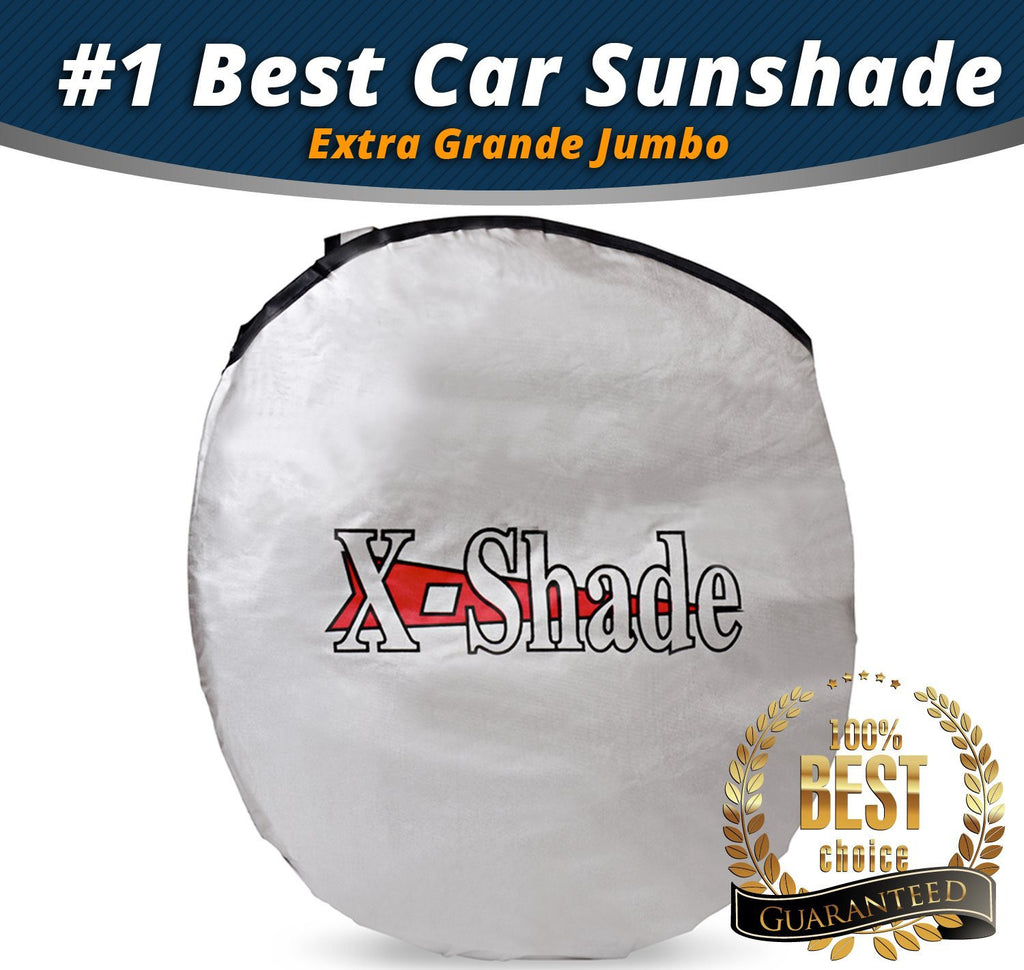 X-Shade Extra Grande Jumbo Sun Shade for Car windshield Comes with Cool Non-slip Pad 83 x 40 Inches