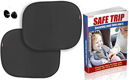 X-Shade Car Sun Shades UV Protective Window Sunshades for Baby, Infants and Kids 2 pcs