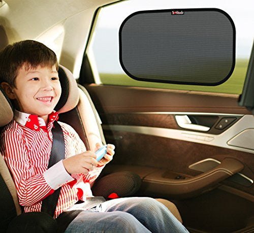 X-Shade Side Window Sunshade Sun Protector for Baby, Infants & Kids 2 pcs With Non-Slip Pad