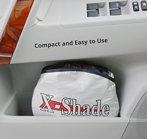 X-Shade Jumbo Sun Shade for Car windshield Comes with Cool Non-slip Pad 72 x 33 Inches