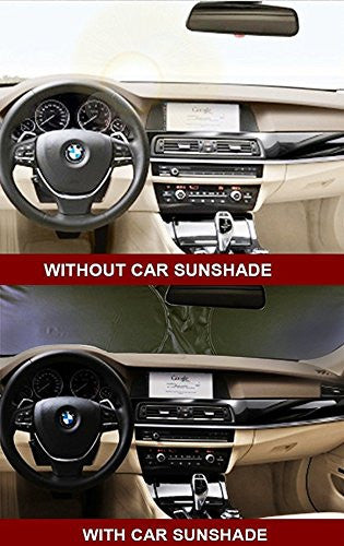X-Shade Grande Jumbo Sun Shade for Car windshield Comes with Cool Non-slip Pad 63 x 31.5 Inches