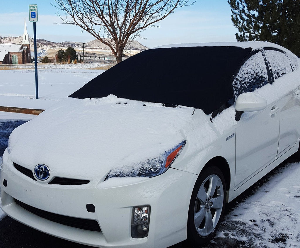 X-Shade Windshield Snow Cover 50 x 62 Inches Best Car Magnetic Windshields Guard from Frost - Comes With Non-slip Pad