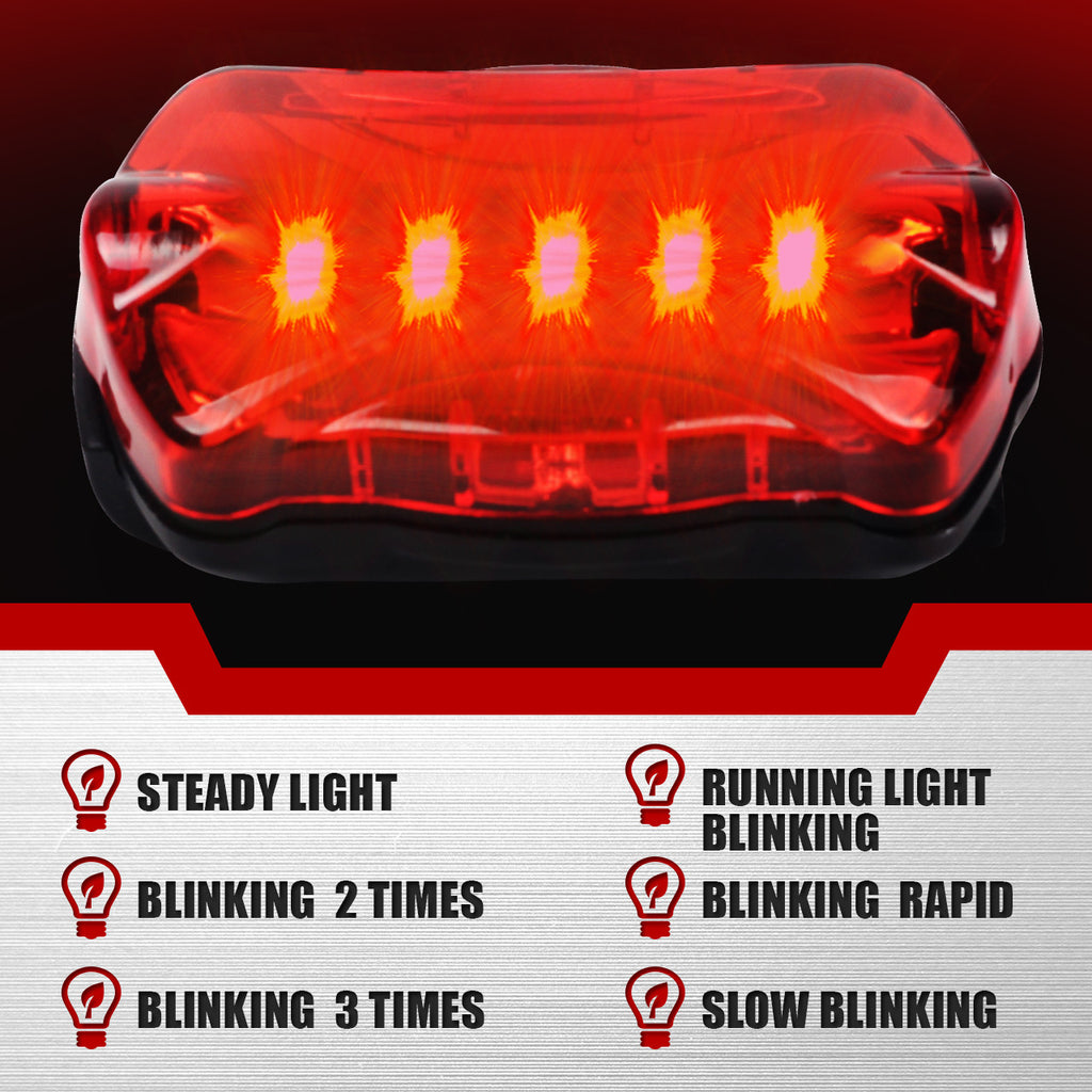 X-Shade Bicycle Light Set Night Cycling Super Bright 5 LED Headlight and Bike Taillight