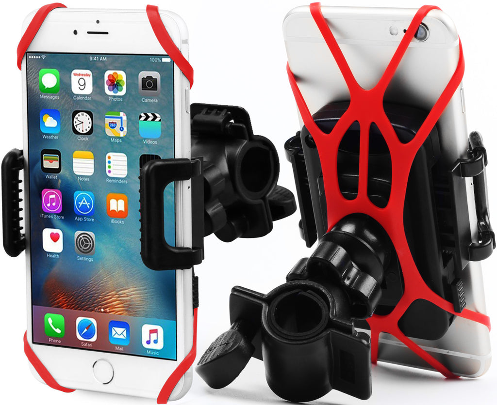 X-Shade Bike Phone Mount Universal Bicycle and Motorcycle Cellphone Holder with 1 pc. Rubber Grip