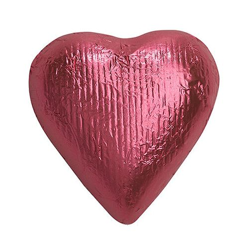 Foiled Solid Chocolate Hearts