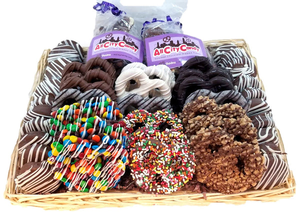 Gourmet Chocolate-Dipped Baskets