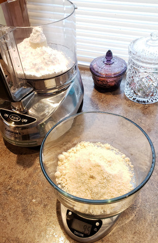 Cooking With Candy: Andes Chocolate Mint Macarons - Put Powdered Sugar and Almond Flour into Food Processor