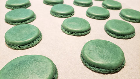 Cooking With Candy: Andes Chocolate Mint Macarons - Baked Macaron Shells