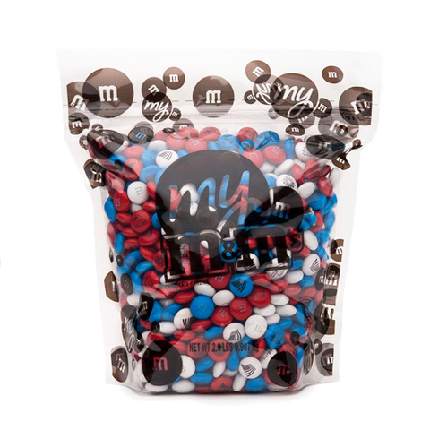 Freedom Blend Red, White & Blue M&M's Chocolate Candy - 2 LB Bulk Bag