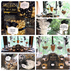 Great Gatsby Themed Wedding Candy Buffet Designed By All City Candy