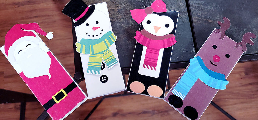 Free Printable Holiday Hershey's Candy Bar Wrapper Craft for Party Favors and Stocking Stuffers from All City Candy