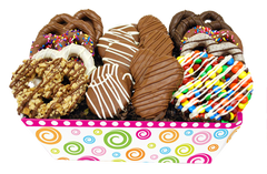 Pretzel Party Gourmet Chocolate Dipped Treats Basket by All City Candy