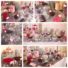 Purple & Fuchsia Wedding Candy Buffet by All City Candy