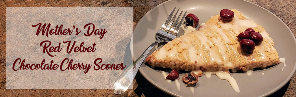 Cooking With Candy: All City Candy's Red Velvet Chocolate Cherry Scones