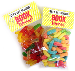 All City Candy Book Worms Gummi Worms Treat Bags