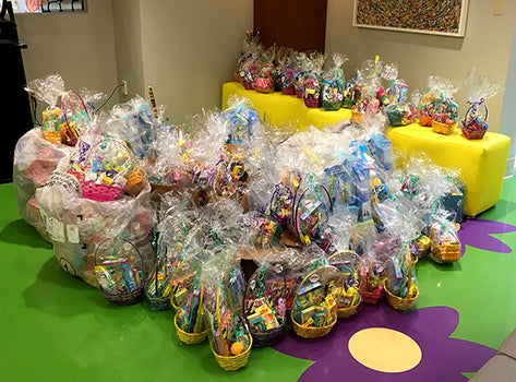 Candy-filled baskets for young patients at UH Rainbow Babies & Children's Hospital