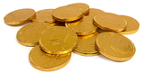 Gold Coins at All City Candy