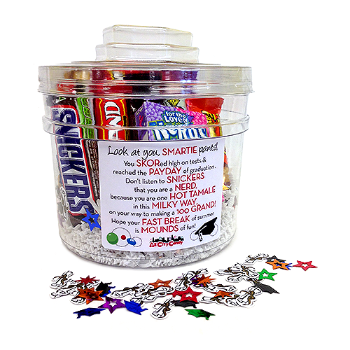 Graduation Candy Poem Gift Bucket