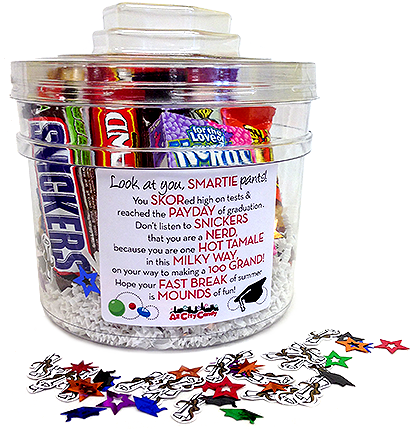Graduation Candy Bar Poem Gift Bucket