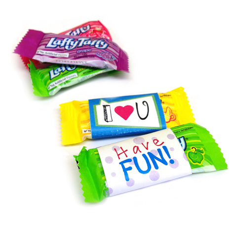 Free Printable - Lunch Box Goodies Wrappers