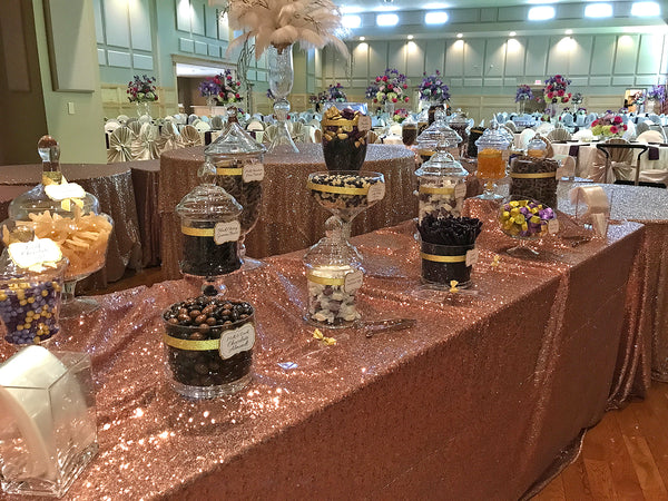 purple gold wedding candy buffet great service fresh candy in rh allcitycandy com gold candy buffet ideas gold candy buffet jars
