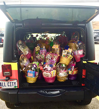 "Candy-filled baskets pack the All City ""Candymobile"""