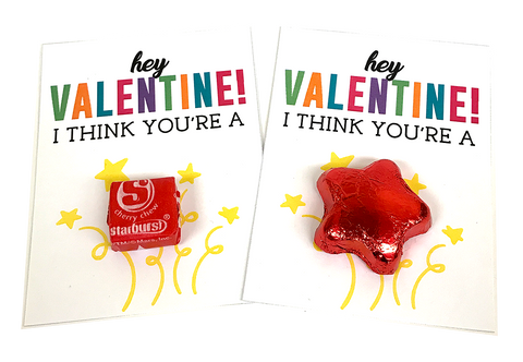 Hey Valentine I Think You're a Star Free Printable