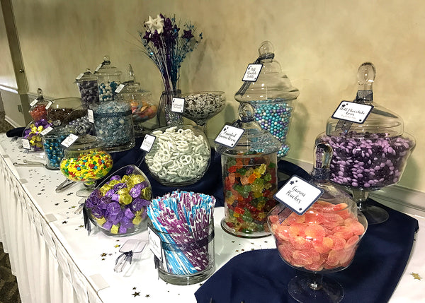 Star/Galaxy Themed Wedding Candy Buffet by All City Candy