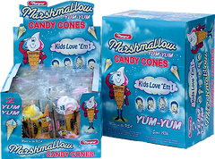 Yum Yum Marshmallow Cones Candy 2 Packs - Case of 24 - at AllCityCandy.com