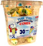 Yum Yum Marshmallow Cones Candy Tub Of 30 Individually Wrapped Pieces at AllCityCandy.com
