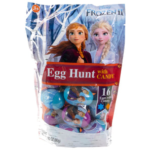 Frozen II Plastic Eggs filled with Candy - 16 Piece Bag