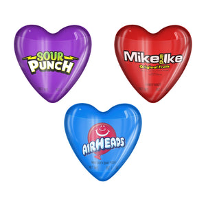 Valentine Hearts w/ Airhead, Mike and Ike or Sour Punch Twists - .38-oz.