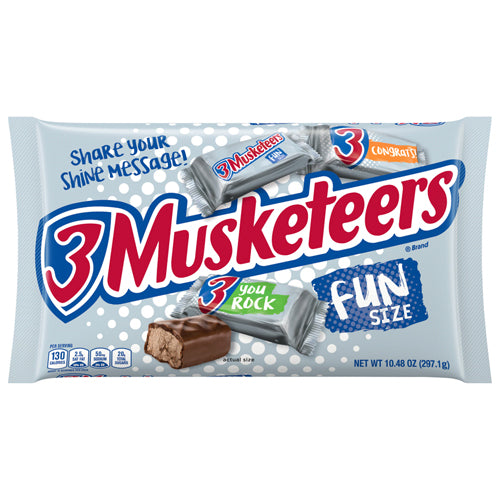 3 Musketeers Fun Size Candy Bars 1048 Oz Bag