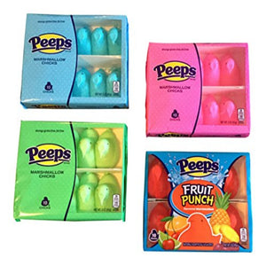 Peeps Marshmallow Chicks Spring Variety Pack - 40 Chicks