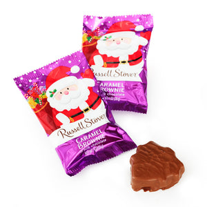 Russell Stover Milk Chocolate Caramel Brownie Santa - 1 oz