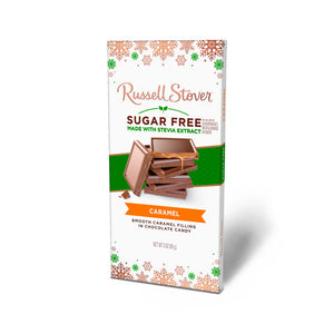 Russell Stover Sugar Free Holiday Milk Chocolate Caramel Bar - 3 oz