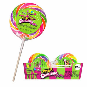 Bee Giant Sour Carnival Pops 4.25 oz.