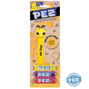 PEZ Limited Edition Bee Candy Dispenser - 1 Piece Blister Pack