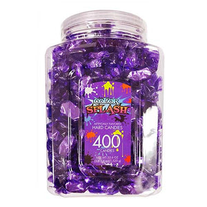 Color Splash Purple Foiled Grape Hard Candies - Tub of 400