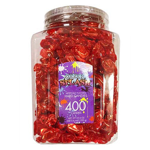 Color Splash Red Foiled Cherry Hard Candies - Tub of 400